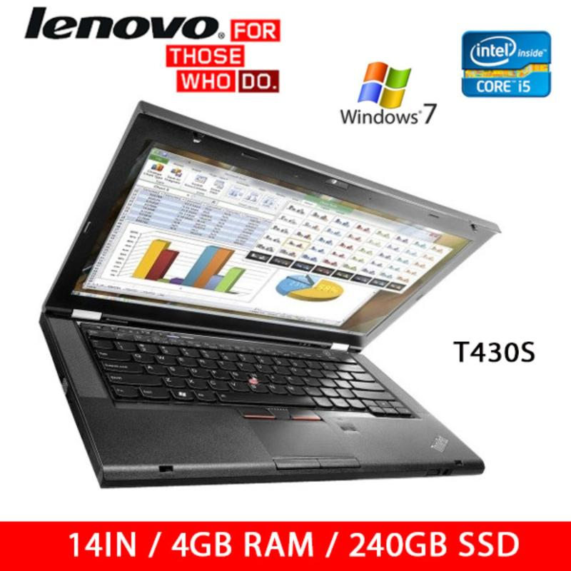 Refurbished Lenovo T430S Laptop / I5 / 14 Inch / 4GB RAM / 240GB SSD / Win 7 / One Month Warranty