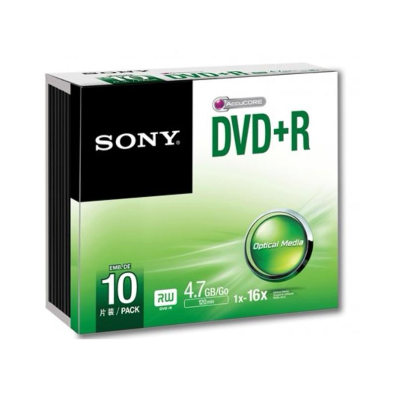 Sony DVD+R 10 pieces with slim case