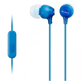Sony Singapore MDR-EX15AP In-Ear Headphone with mic (Blue)