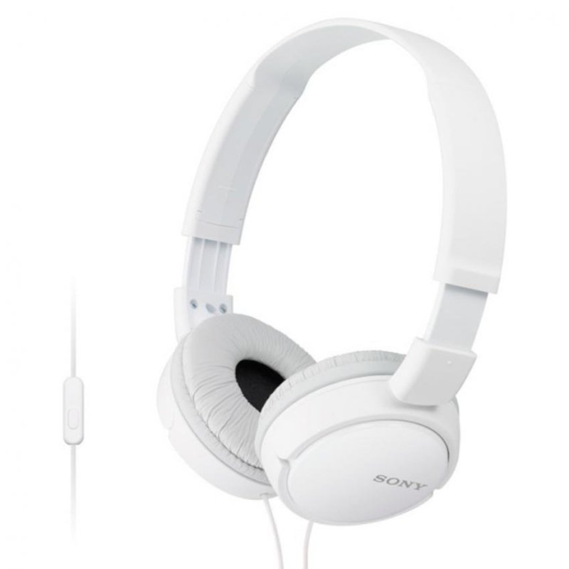 Sony Singapore MDR-ZX110AP On-ear Headphone with Mic (White) Singapore
