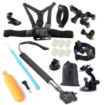 Sport Camera go pro Accessories Set for SOOCOO C30/S70/60B/60/C10 Gopro Hero 4 SJCAM SJ4000 SJ5000 xiaomi yi
