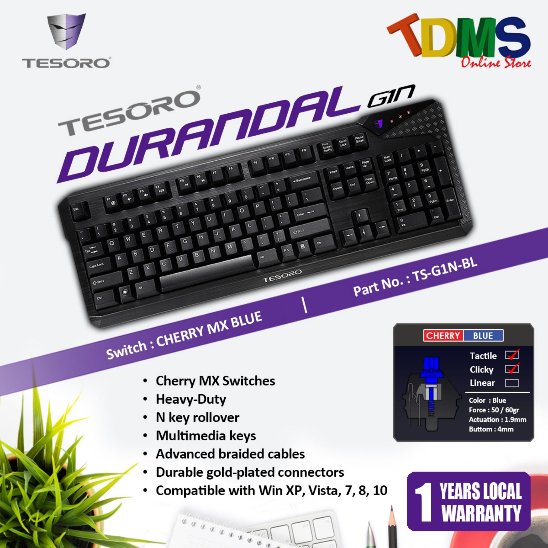 6e6062e1092 TESORO DURANDAL G1N Mechanical Gaming Keyboard - CHERRY MX Blue Switch  Singapore