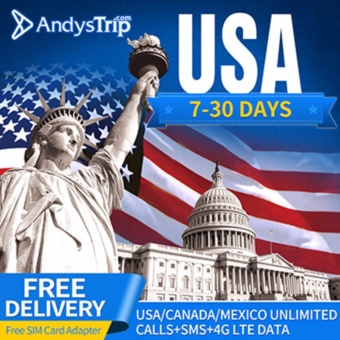 Harga Tmobile?USA SIM Card?4G Unlimited Data for 10 Days (+free SIM cardadapter)