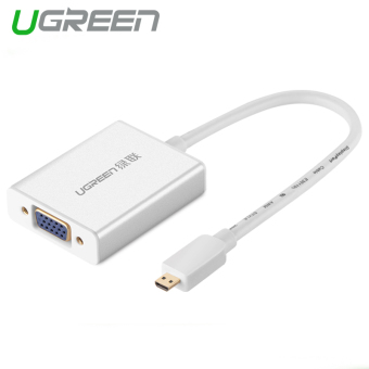 UGREEN Micro HDMI to VGA Adapter with 3.5MM Audio, Mirco USB Port Aluminum Case