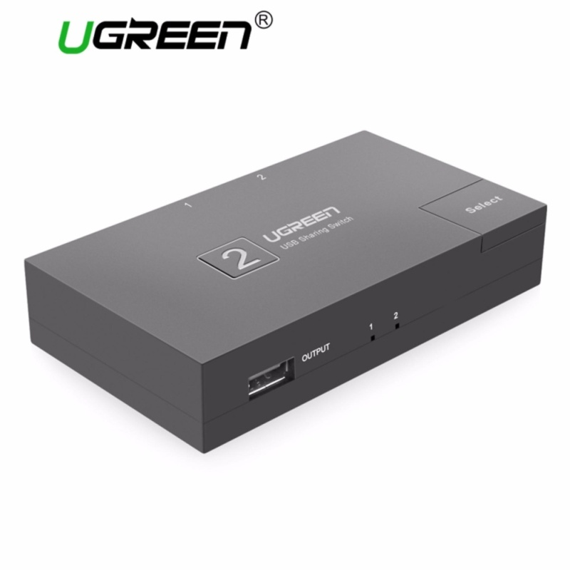 UGREEN USB 2.0 Sharing Switch 2 Port, USB Peripheral Switcher Adapter Box Hub 2 PCs Share 1 USB Device for Printer Scanner with 2 Pack USB 2.0 Male Cable - intl