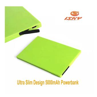 Ultra Slim Power Bank Powerbank Portable Battery 5000mAh Green