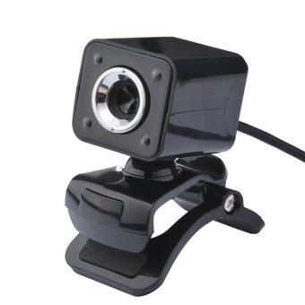 USB 2.0 1080P 12M Pixel 4 HD Webcam Web Cam Camera MIC for PC All (Black) - 2
