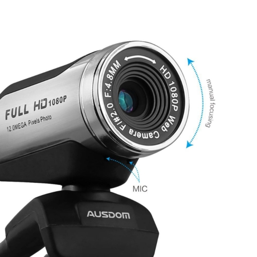 ... USB Webcam 1080P, AUSDOM 12.0M HD Camera Web Cam with Built-in  Microphone ...