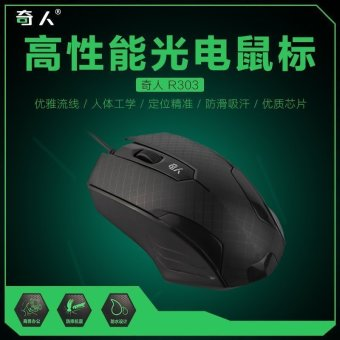 Warren R303 business office desktop notebook USB mouth computeroptical Electric competition game wired mouse Factory