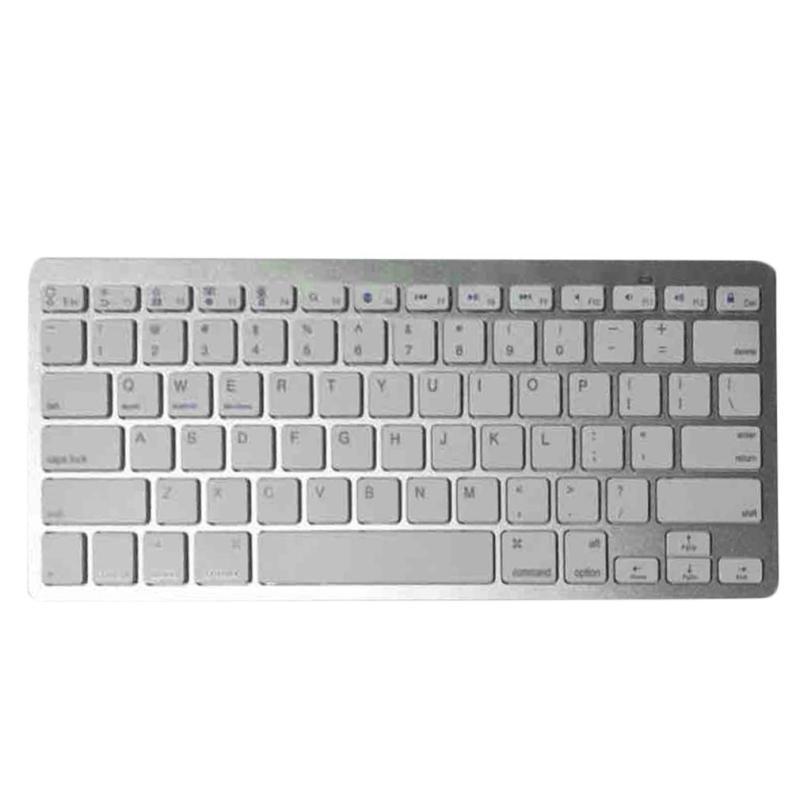 Wireless Bluetooth  Keyboard For Air ipad Mini Mac Computer PC Macbook White