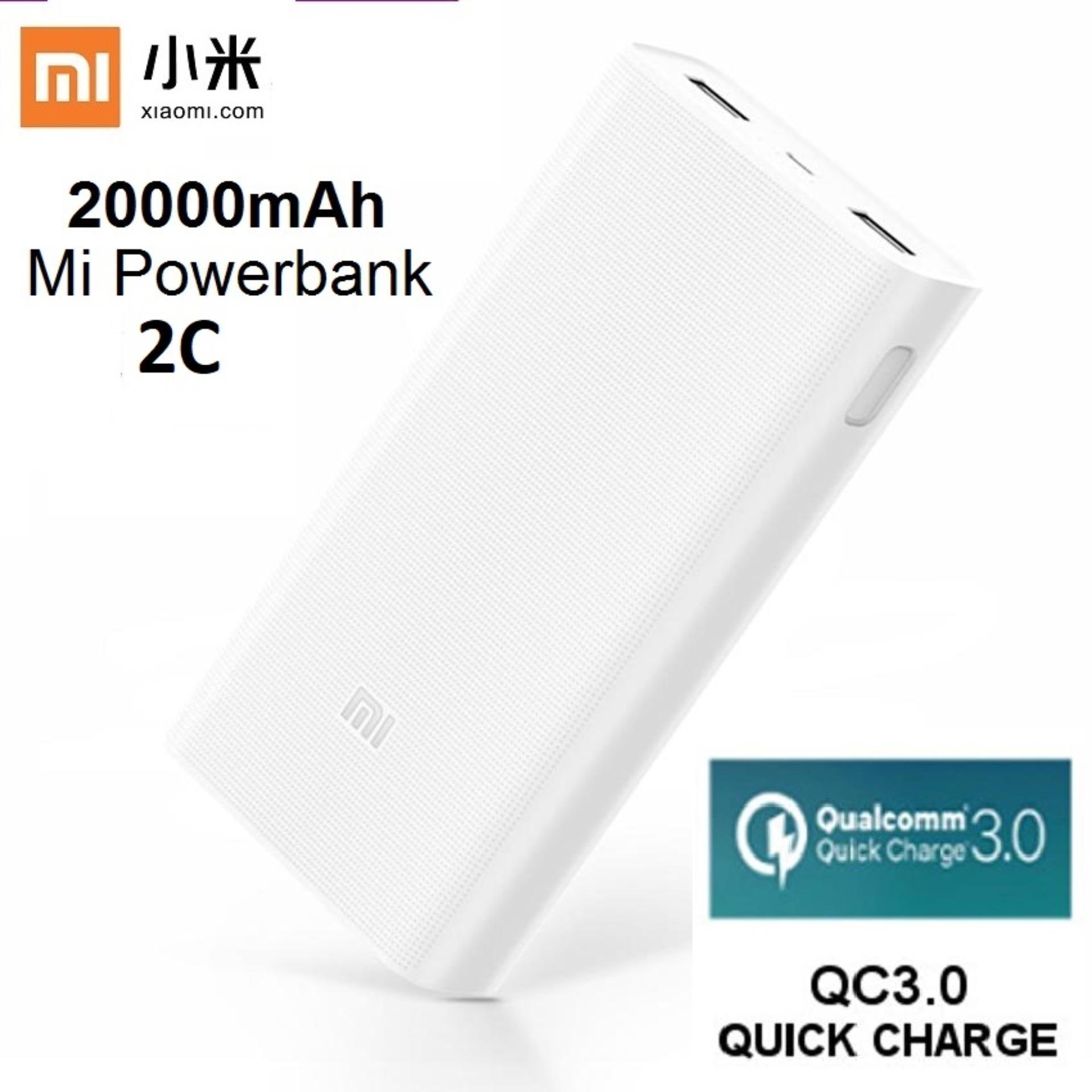Buy Xiaomi 20000mah 2c Mi Power Bank Qc30 External Battery Charger Powerbank Pro 2 Original 10000mah Quick Charge White Singapore