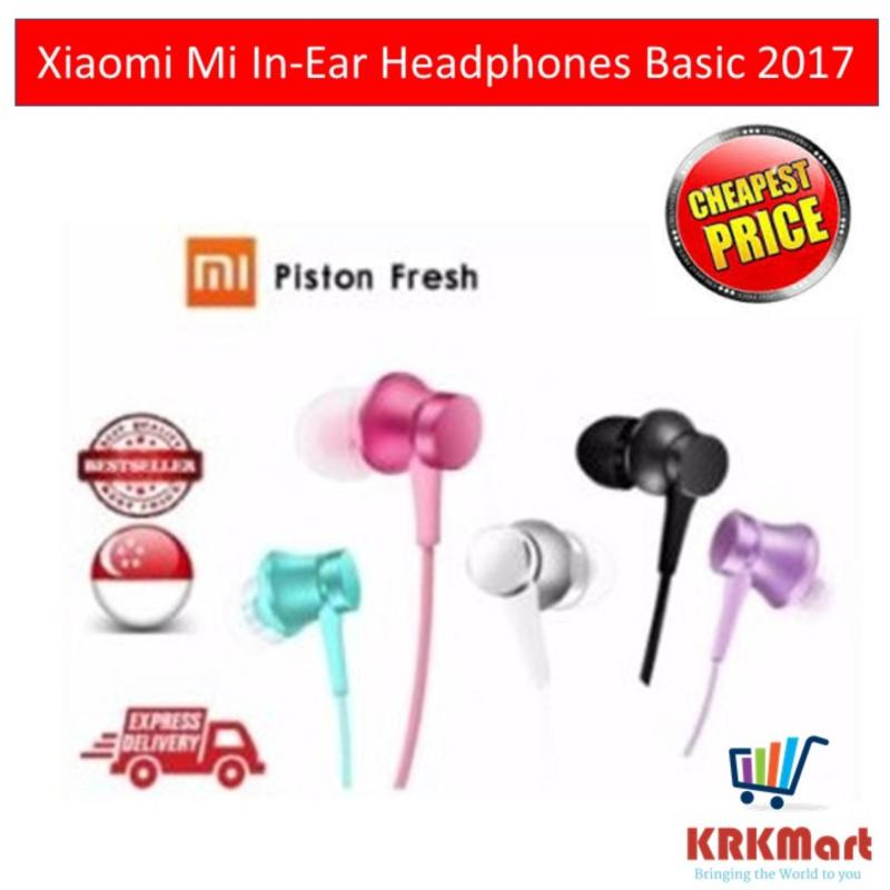 Xiaomi Mi In-Ear Headphones Basic 2017 (Black/Pink/Blue/Purple) Singapore