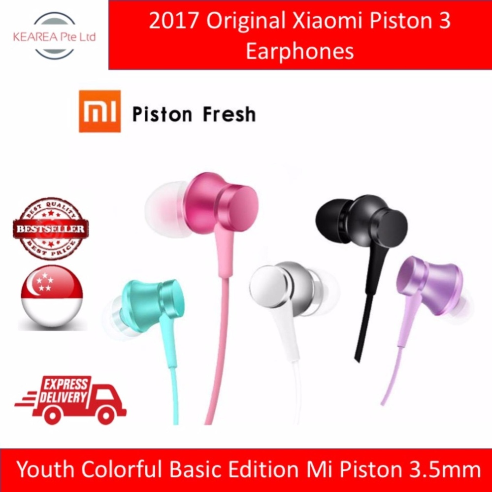 Promo Earphone For Xiaomi Piston Silver Terbaru 2018 Mi Huosai 2 Colorful Edition Original Buy In Ear Headphones Basic 2017 Black Pink Blue Purple