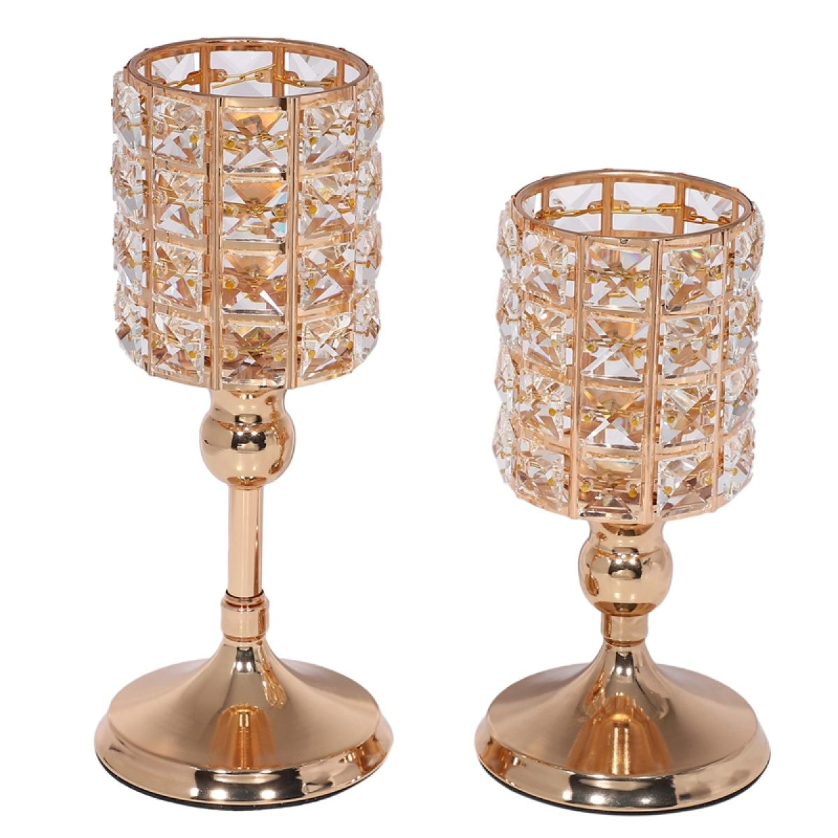 2 Pcs Crystal Candle Holders For Home Modern Decor Wedding Table Centerpieces Anniversary Celebration Gifts 8 And 10 In Lazada