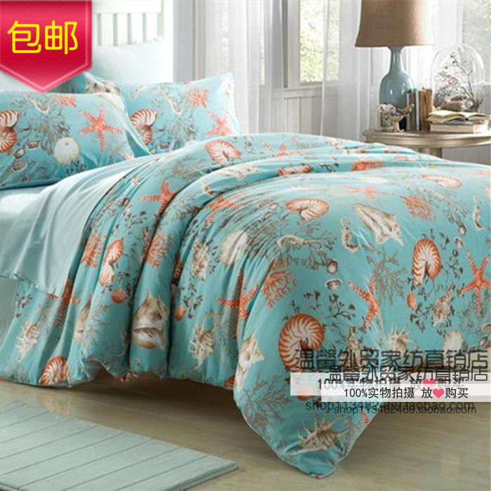 1.2 m bedding cotton satin four sets of 60 of Egyptian cottonchildren's bedding ocean quilt sheets can be customized