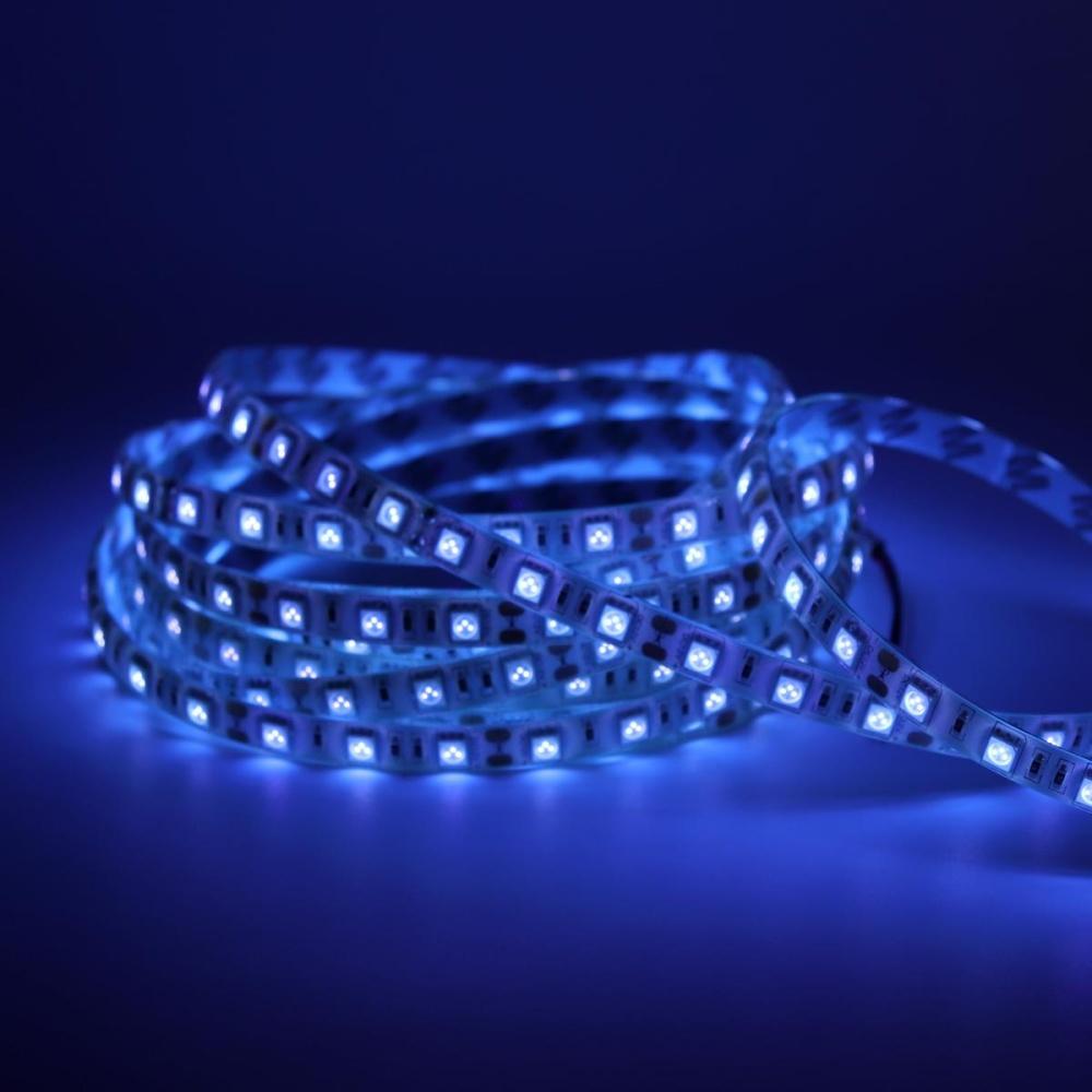 12V 5m Waterproof UV LED Strip Light With 300 Ultraviolet Lamp Beads   Intl