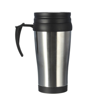 16 Oz Portable Stainless Steel Insulated Travel Car Coffee Tea Mug Cup Thermos