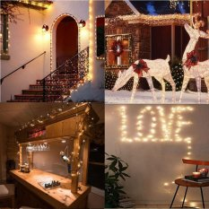 165Ft/50m 500Leds Copper Wire Warm White LED String Lights Holiday Lights Starry Lights christmas Fairy lights+CE Certification UK Adapter - intl