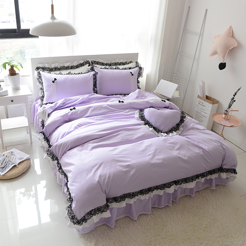 1.8 m bed Cotton Double bedspread bed four sets