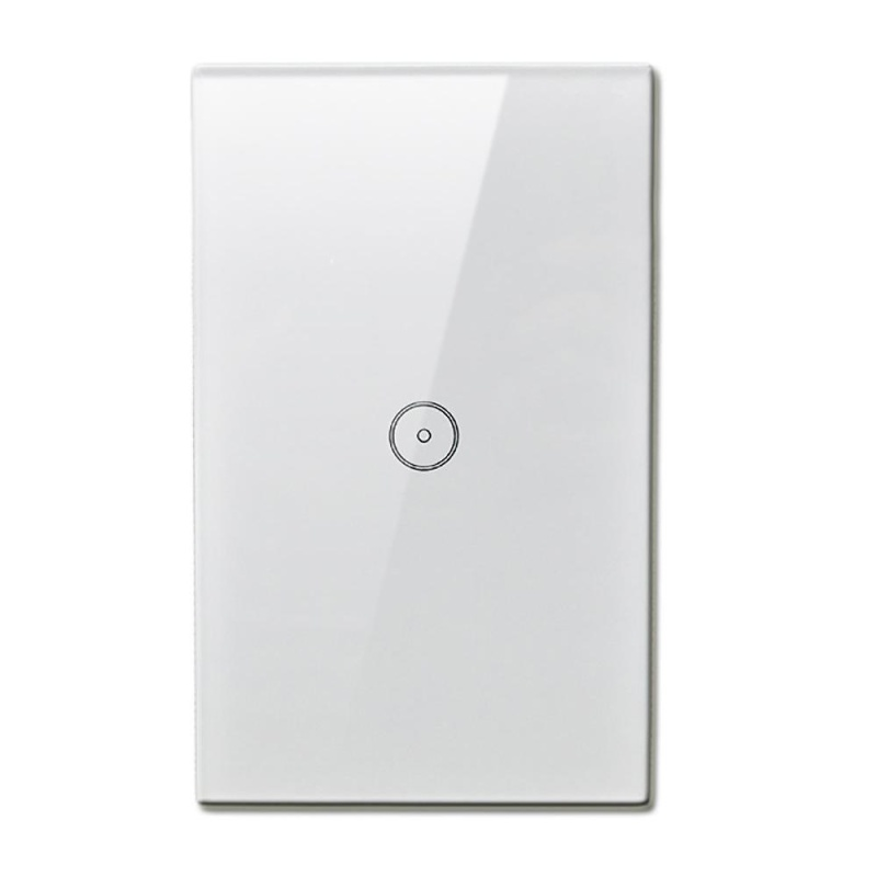 1pc Smart Home Wall Light Switch Touch Control Glass Panel US Plug 1 Gang - intl