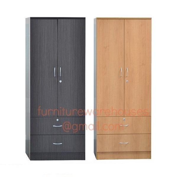 2 Door Wardrobe Cabinet (Cherry) | Lazada Singapore