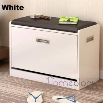 2 In 1 Shoe Cabinet Stool Storage Organizer White Part 38