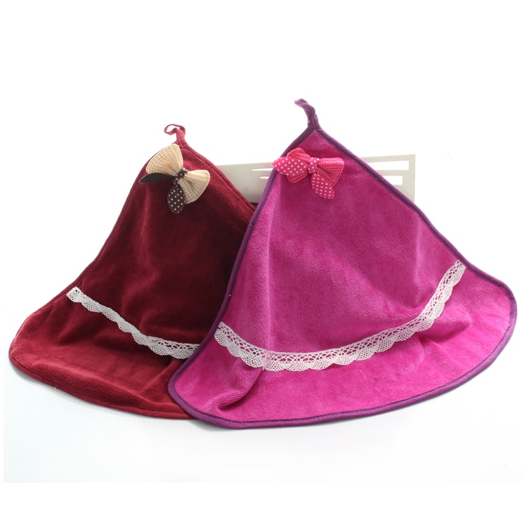 2 strip dress coral velvet hanging towel children small towel can be hanging-rub hand in the thick 40g rub hand towel cloth towel