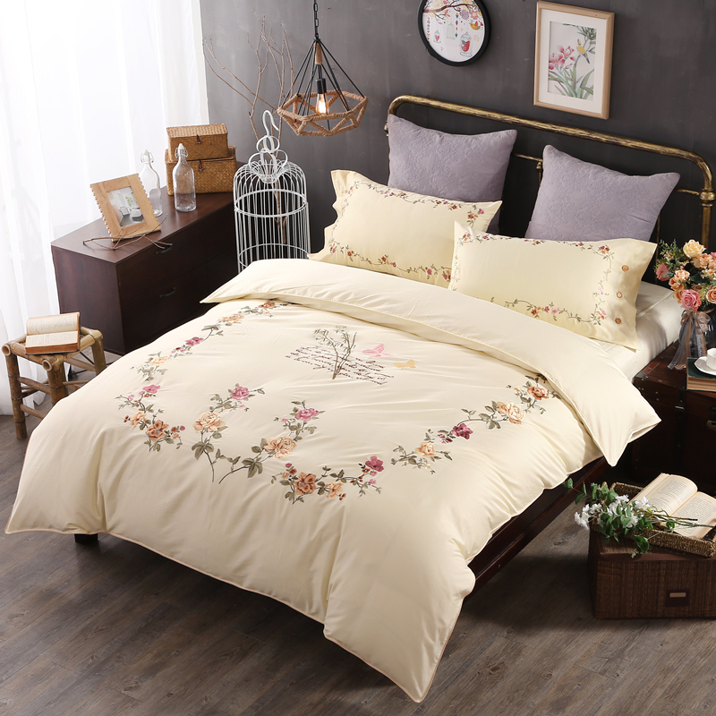 220x240 classical embroidered flower long velvet Cotton