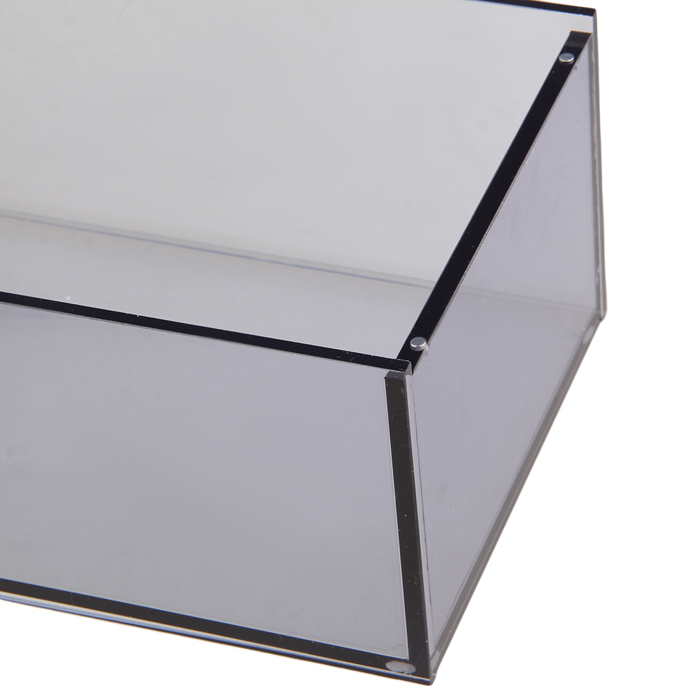 22.6 x 12.5 x 8.4cm Acrylic Tissue Box Transparent Grey - intl