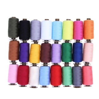 24 Colors 1000 Yard Polyester Embroidery Sewing Machine Threads - intl