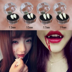 2Pcs Bloodcurdling Vampire Werewolves Fangs Fake Dentures Teeth Costume Halloween 13mm - intl