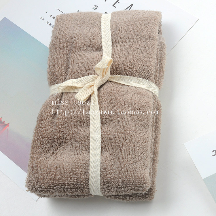 3 ~ Foreign Trade Japanese-Style Cotton Soft Absorbent Large Towel Cotton Striped Solid Color Towel Bath Towel