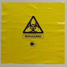 300mm x 300mm Yellow Biohazard Bag Autoclavable