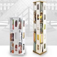 360 Degree Rotatable 3-Tier Book Shelf (White)