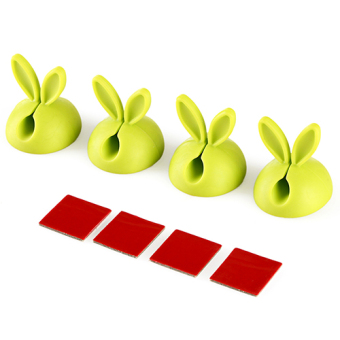 4, dress rabbit ears self-adhesive solid line device wire retaining clip data cable network cable computer cable Storage Management clamp Buckle