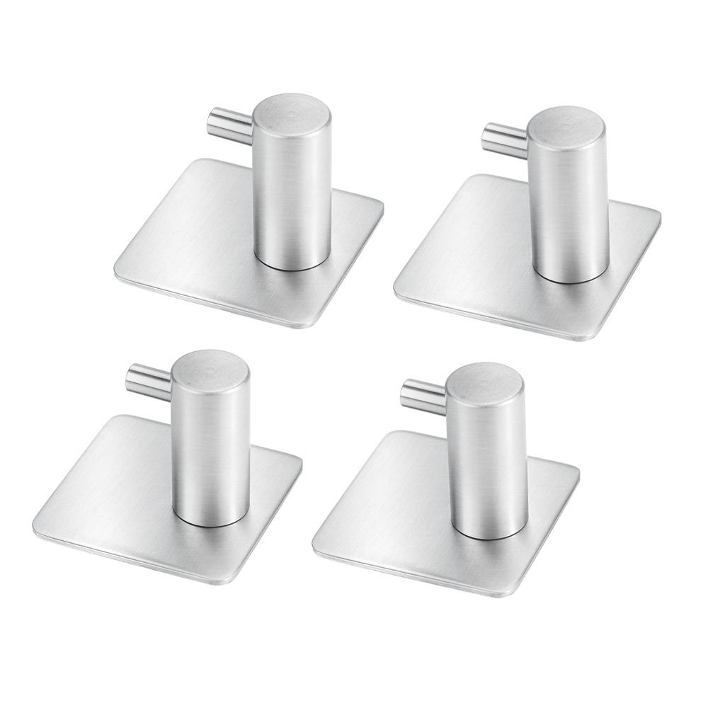 Home · Hardware · Picture Hangers. 4-Pack Self Adhesive Towel Hook Wall Hooks 304 Stainless Steel Brushed Bathroom Kitchen Hanging