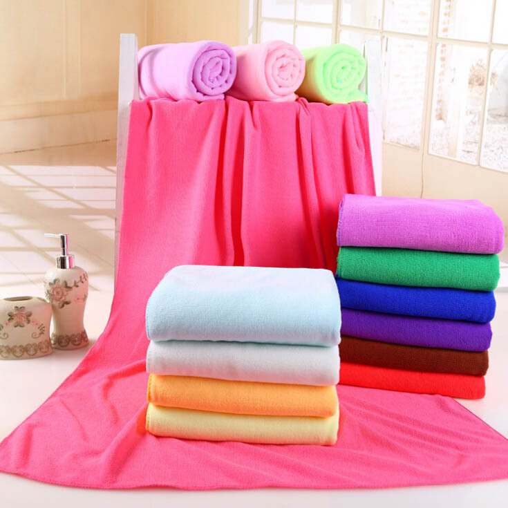 4135 * multi-color can be selected ultra-fine fiber solid color large towel