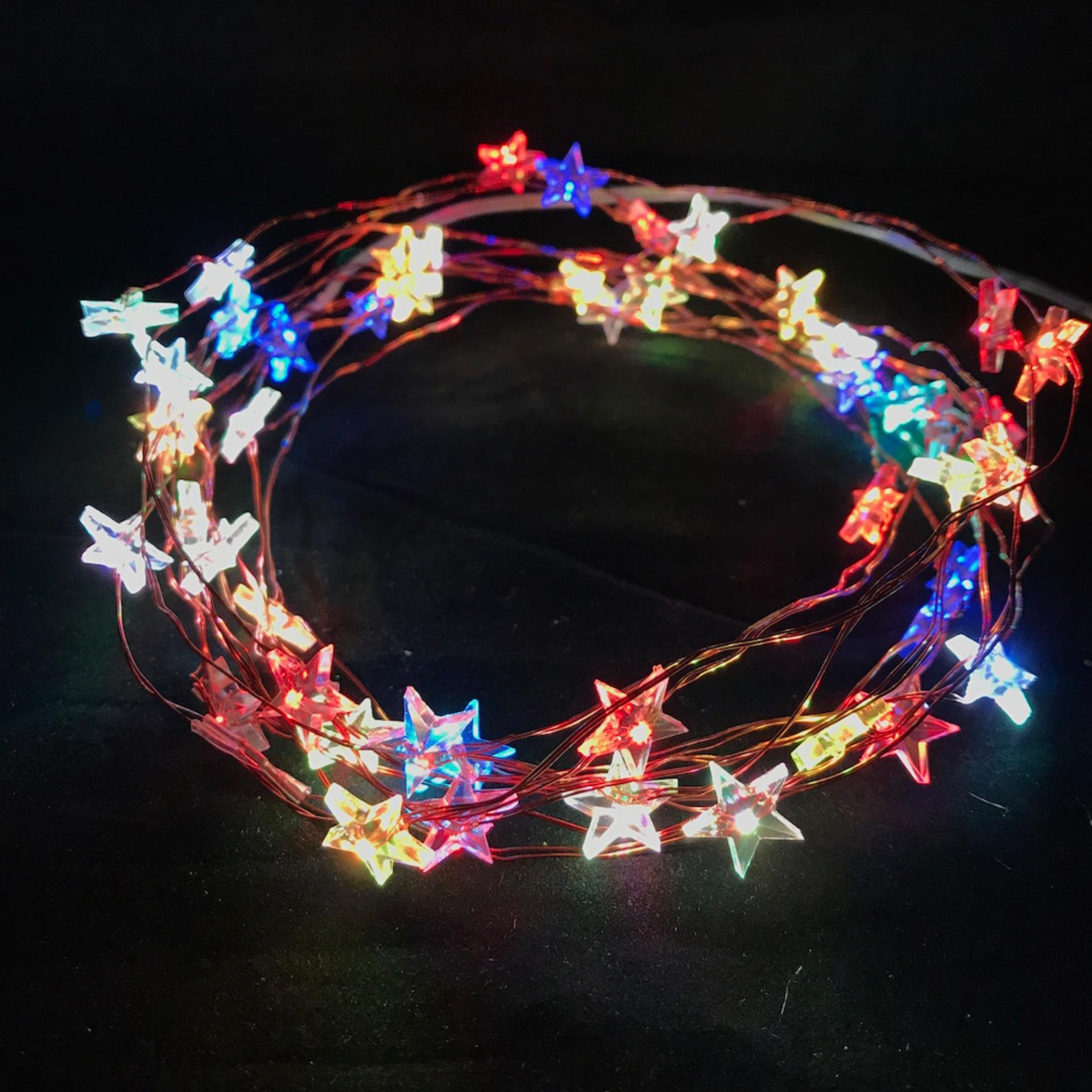 5m 50 led battery operated copper wire fairy light stars multi color static singapore