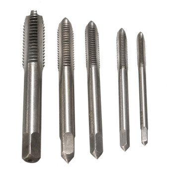 5PCS/Set HSS M3 M4 M5 M6 M8 Machine Hand Screw Thread Metric Plug Tap Drill - 4