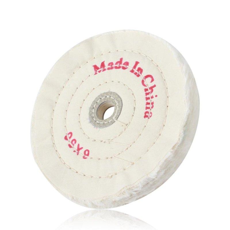 6 Inch Cloth Buffing Polishing Wheel Arbor Buffer Polish Grinder White Padl(Neutral)- (Intl)
