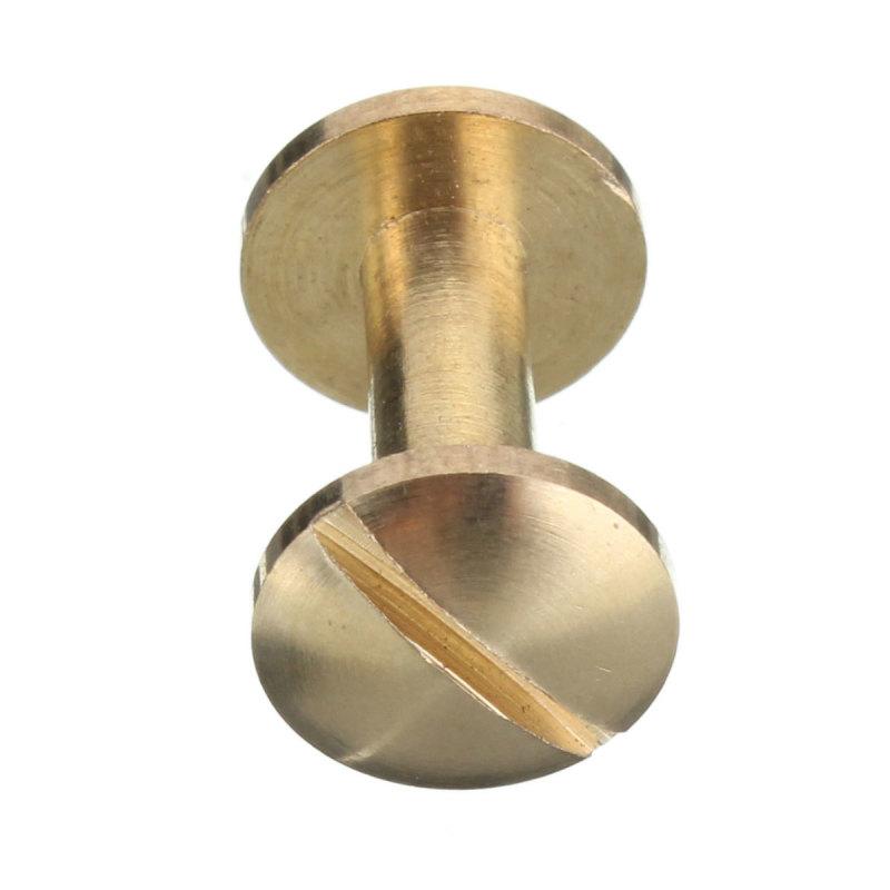 Arc Solid Brass Button Stud Screw Nail Screwback Leather Rivet Belt 10mm - intl