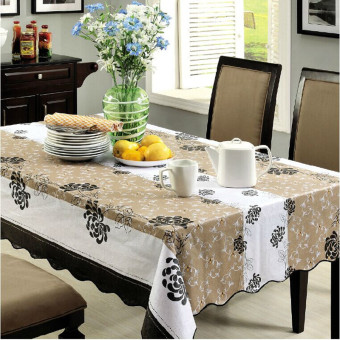 Nice Art Round Pastoral PVC Waterproof Heat Resistant Table Cloth Tablecloth