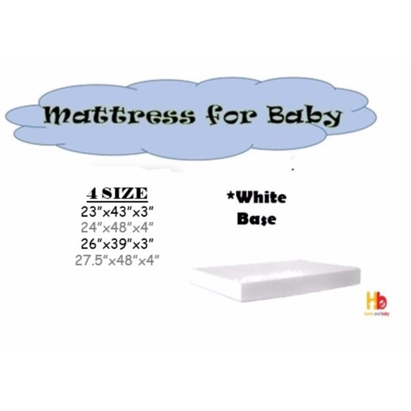 Baby Foam Mattress 27.5 x 48 x 4 with Anti-Dust Mite
