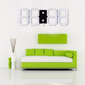 Baffect Modern Design 3D Digital Led Wall Clock - intl - 2