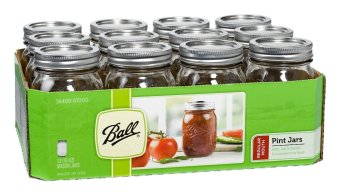 ball 16 oz mason jars. ball mason 16oz pint regular mouth set of 12 (clear) 16 oz jars t
