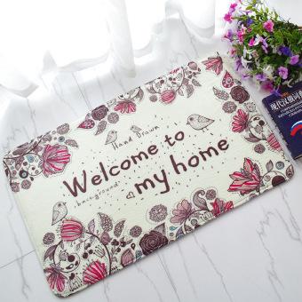 Bathroom absorbent mats doormat Welcome welcome mat door mat EiffelTower mats bird carpet - 2