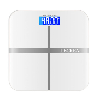 Harga Bathroom Scales Intelligent electronic scales weighing scales(White)