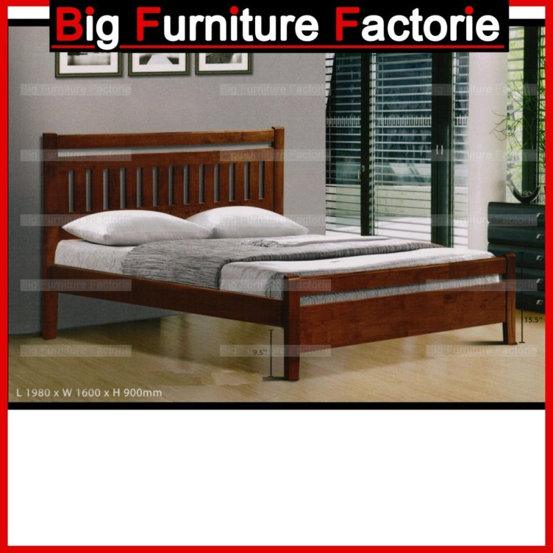 BFF-020-WB Solid Wooden Queen Size Bed – Queen