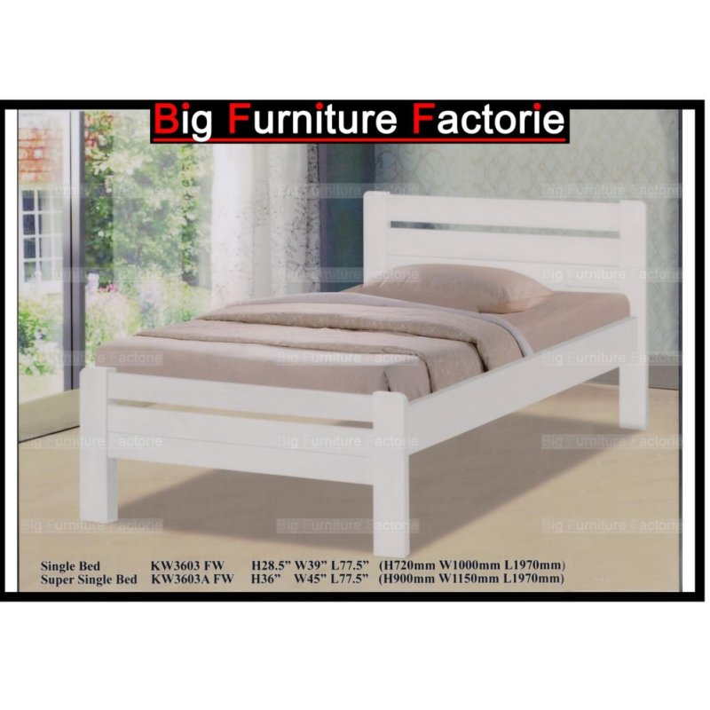BFF-3603-WB Solid Wooden Bed (Cherry) – Single