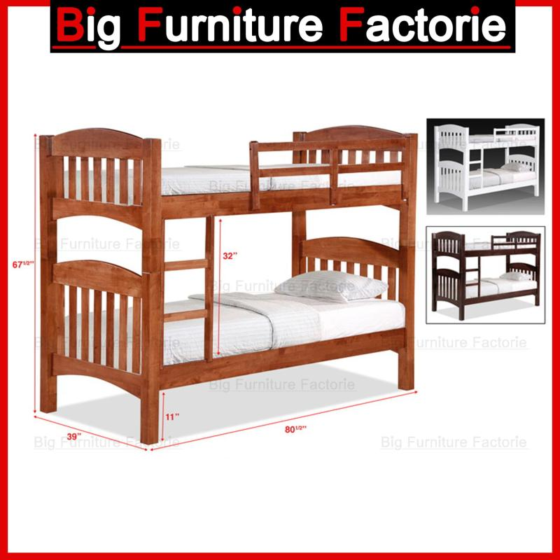 BFF-50-DD Solid Wooden Double Decker Bed